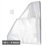 Seitenfaltenbeutel aus Kunststoff, wahlweise 1000 oder 2500 Liter, transparent, Verpackungseinheit (VE) 10 Stück