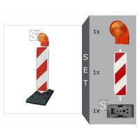 Sicherheitsbake mit SD-System Komplett-Set, BASt-geprüft nach TL-Leitbaken, wahlweise Folie RA1 oder RA2 (Typ 1 / Typ 2)