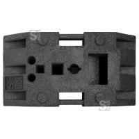 Sicherheitsbaken-Fußplatte K 35, BASt-geprüft nach TL-Leitbaken