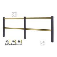 Sicherheitsgeländer -Bounce-, Höhe 1150 mm, Länge 1200, 2400 oder 3600 mm