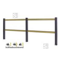 Sicherheitsgeländer -Bounce-, flexibles Material, Höhe 1150 mm, Länge 1200, 2400 oder 3600 mm, zum Aufdübeln