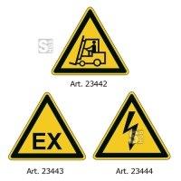 Sicherheitskennzeichnung -WT-5413-, dreieckige VZ, wasserfest und raue Oberfläche