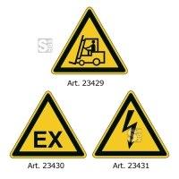 Sicherheitskennzeichnung -WT-7113-, dreieckige VZ, staplerüberfahrbar und kratzfest