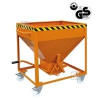 Silobehälter -S2051- mit Rollen, Auslauf gerade, Scherenverschluss, 300-600 Liter, Handhebel