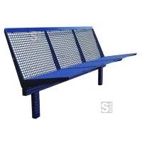 Sitzbank -Level- mit Rückenlehne, Stahl, Sitz- und Rückenfläche Drahtgitter, zum Einbetonieren