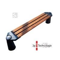 Sitzbank -Naxos- aus Aluminium, Sitzfläche aus Hartholz, mit 3p-Technologie (Sollbruchstelle)