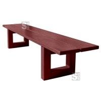 Sitzbank -Puro- ohne Rückenlehne, aus Mahagoni-Holz, zum Aufdübeln