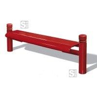Sitzbank -Trend- ohne Rückenlehne, aus Stahl, Sitzfläche aus Stahllochblech, zum Einbetonieren