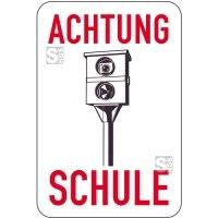 Sonderschild, ACHTUNG, SCHULE, 400 x 600 mm