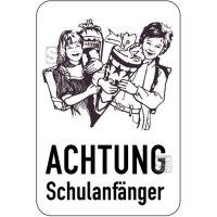 Sonderschild, ACHTUNG, Schulanfänger, 400 x 600 mm