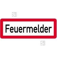 Sonderschild, Feuermelder, 597 x 210 mm