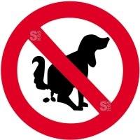 Sonderschild, Hier kein Hundeklo, wahlweise in Ø 420 und Ø 600 mm