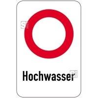 Sonderschild, Hochwasser, 400 x 600 mm
