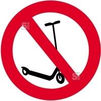 Sonderschild, Kickboard fahren verboten, wahlweise in Ø 420 und Ø 600 mm