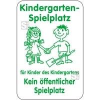 Sonderschild, Kindergarten-Spielplatz, für Kinder des Kindergartens, 400 x 600 mm
