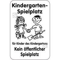 Sonderschild, Kindergarten-Spielplatz für Kinder des Kindergartens, 400 x 600 mm