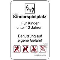 Sonderschild, Kinderspielplatz, Für Kinder unter 12 Jahren, 400 x 600 mm