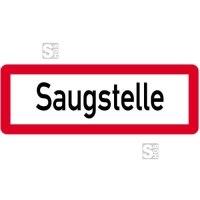 Sonderschild, Saugstelle, 597 x 210 mm