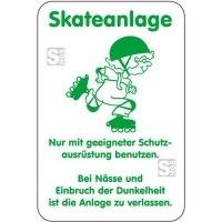 Sonderschild, Skateanlage, Nur mit geeigneter Schutzausrüstung benutzen ..., 400 x 600 mm