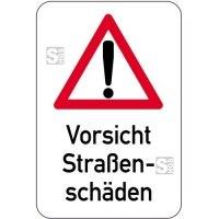 Sonderschild,  Vorsicht Straßenschäden, 400 x 600 mm