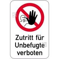 Sonderschild, Zutritt für Unbefugte verboten, 400 x 600 mm
