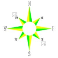 Spielplatzmarkierung DecoMark® -Kompass- aus Thermoplastik