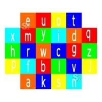 Spielplatzmarkierung Hüpfspiel DecoMark® -Alphabet- aus Thermoplastik
