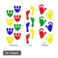 Spielplatzmarkierung Hüpfspiel DecoMark® -Fußabdrücke-, VE 5 Paare, aus Thermoplastik