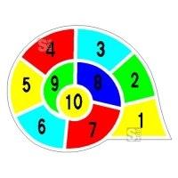 Spielplatzmarkierung Hüpfspiel DecoMark® -Schnecke- aus Thermoplastik
