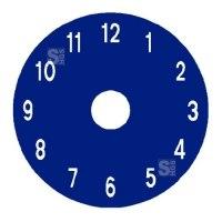 Spielplatzmarkierung Hüpfspiel DecoMark® -Uhr- aus Thermoplastik