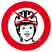 Spielplatzschild, Helmtragen verboten