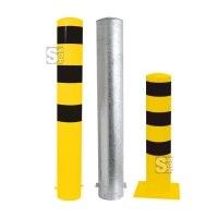 Stahlrohrpoller / Rammschutzpoller -Bollard- Ø 193 mm aus Stahl, feststehend, wahlw. gelb / schwarz