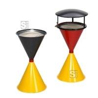 Standascher -Cubo Champ 2018- aus Stahl, schwarz / rot / gelb, wahlweise mit Dach
