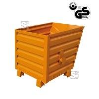 Stapelkipper -S2028- mit profilierten Seitenwänden, gefüllt stapelbar, 300-2000 Liter, lackiert oder verzinkt
