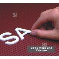 Steckziffern -FO 20-, 264 Ziffern und Zeichen, Höhe 20 mm, verkehrsweiß, entgratet