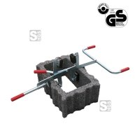 Steinversetzzange -S1506- aus Stahl, Tragkraft 100 kg, lackiert oder verzinkt