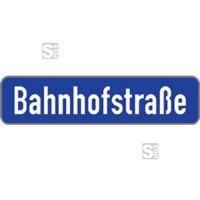Straßennamenschild aus Aluminium, Höhe 150 mm, Flachschild mit V-Profil