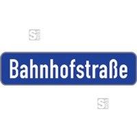 Straßennamenschild aus Aluminium, Höhe 180 mm, Flachschild mit V-Profil