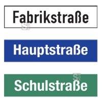 Straßennamenschild aus Aluminium-Hohlkastenprofil, Höhe 150 mm