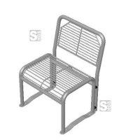 Stuhl -Dita- mit Rückenlehne, mobil, wahlweise mit oder ohne Armlehnen