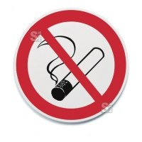 Symbolschild -Unitex P- Ø 200 mm, Rauchen / Zutritt verboten