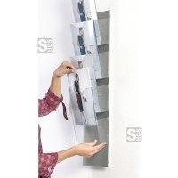 Systemwand -ZIP MAGIC WALL- aus eloxiertem Aluminium