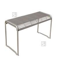Tisch -Dita Plus-, aus Stahl, Mobil