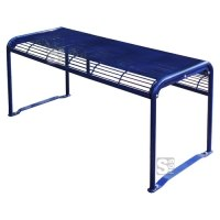 Tisch -Dita-, aus Stahl, Abstellfläche aus Gitternetz, Mobil