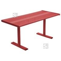 Tisch -Gunix-, aus Stahl, Abstellfläche aus Lochblech, zum Aufdübeln