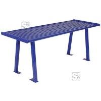 Tisch -Sosila-, aus Stahl, Abstellfläche aus Rechteckrohr, zum Aufdübeln