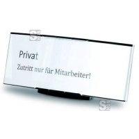 Tischaufsteller -PacificX- aus Aluminium, 151 x 67 x 30 mm