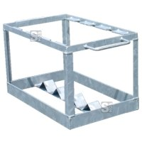 Transport- und Lagerbox für bis zu 5 Faltleitkegel, aus Stahl