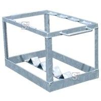 Transport- und Lagerbox für bis zu 5 Schilderständer mit integrierter Fußplatte