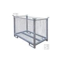 Transportbox für bis zu 35 Bauzaunfüße, aus Stahl